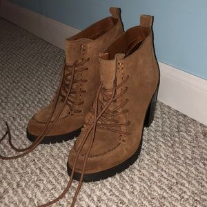 Brand new suede booties, Sam Edelman Circus